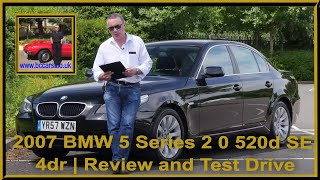 2007 BMW 5 Series 2 0 520d SE 4dr   Review and Test Drive