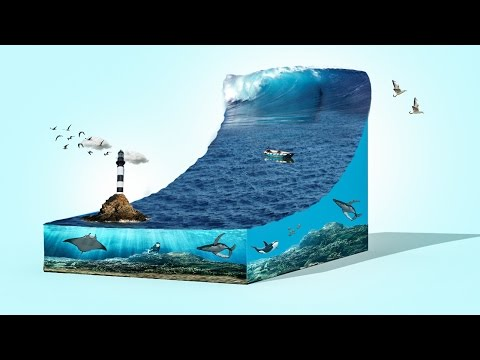 3d sea wave tsunami | photoshop cc 2015.5 tutorial