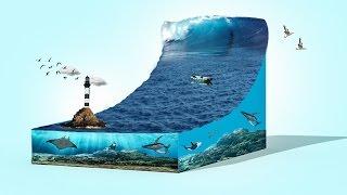 3d sea wave tsunami   photoshop cc 2015.5 tutorial