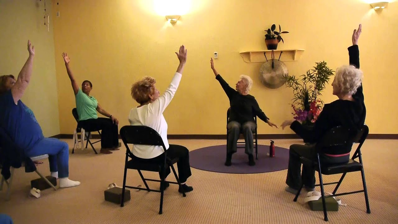 Chair yoga elderly - Challenge Your Brain And Body With Chair Yoga Teacher Paula Montalvo Youtube