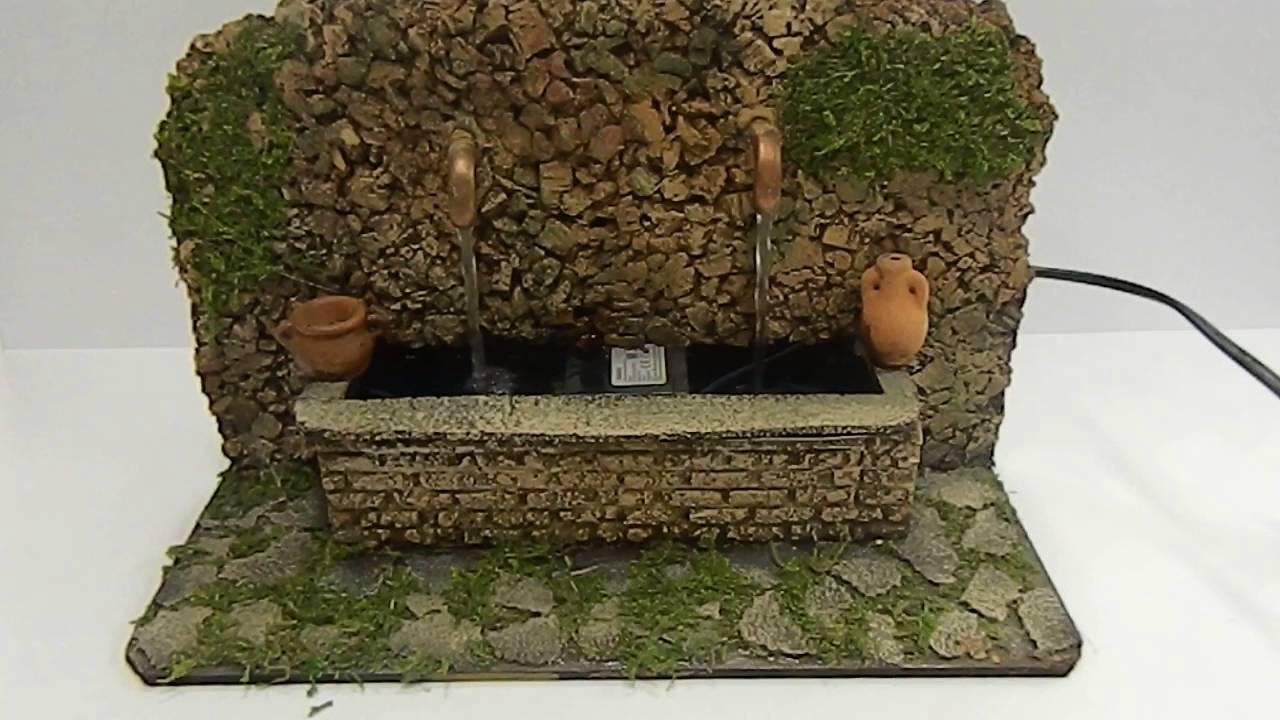 Fontana Per Il Presepe.Fontana Artigianale Per Presepe Con Pompa Ricicla Acqua
