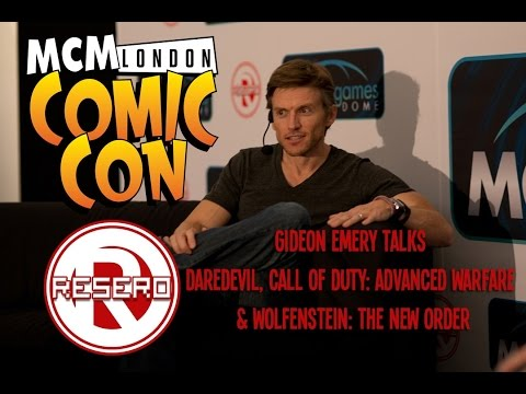 Resero Presents  Gideon Emery on the Games Stage at MCM London Comic Con