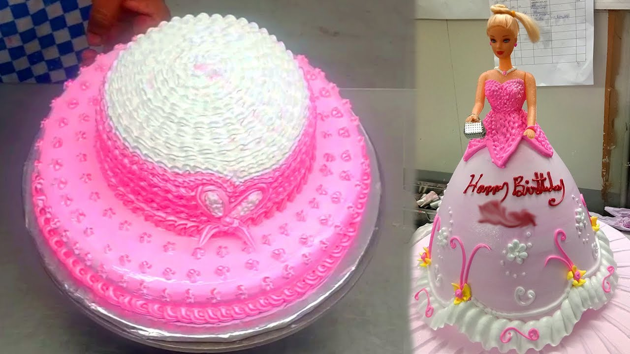 How To Make Pink Quot Barbie Quot Titfer Cake Baby Doll Hat Cake