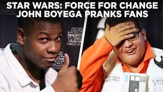 John Boyega sneaks up on fans posing for photos at Star Wars Celebration and gets awesome pics and better reactions! For your chance to join the cast at the ...
