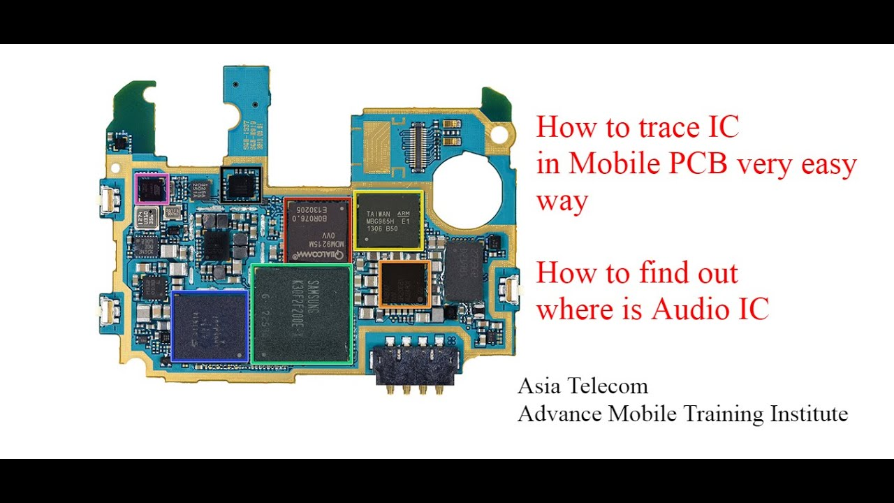How to trace IC in Mobile PCB l Learn Mobile IC circuit