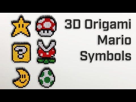 Origami Mario Symbols – 3D Modular Origami [ How to Make - Showcase ]