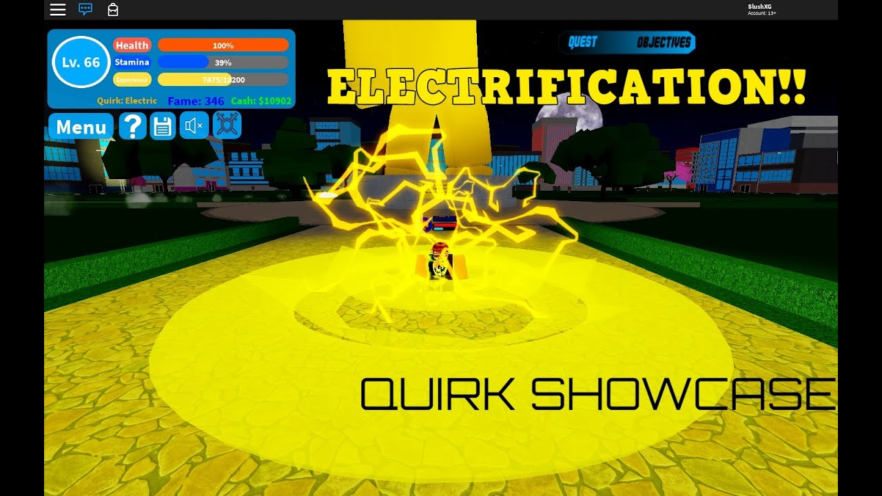 Electrificatio Quirk Showcase Release Boku No Roblox Remastered Youtube