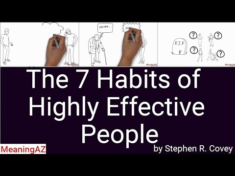 The 7 Habits of Highly Effective People by Stephen R. Covey; Animated Book Summary