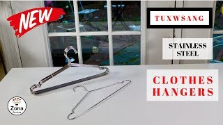 😍  TUXWANG   ❤️ Stainless Steel Clothes Hangers - Review       ✅