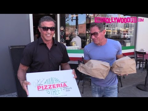 Sylvester Stallone Stops By Mulberry Street Pizzeria In Beverly Hills 9.9.16