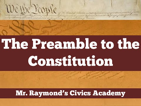 Preamble to the Constitution   Civics EOC and SOL Updated