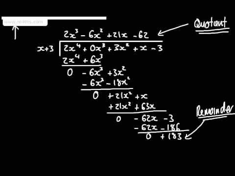 Core 2 - Algebra and Functions 3 -  Polynomial Long Division - Harder Examples