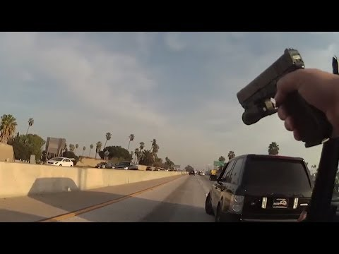 LAPD Shoot at Fleeing Hit & Run Driver