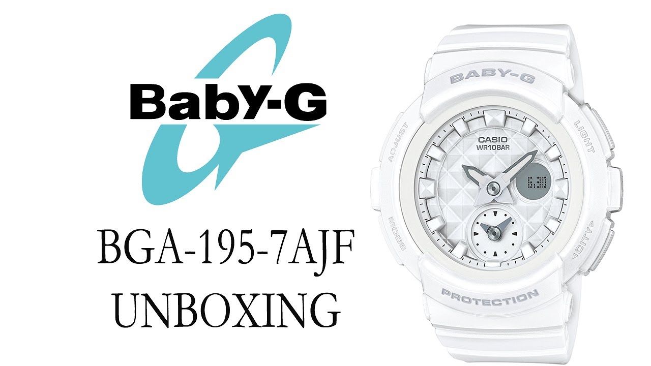 1a0bc9c56d1 BABY-G BGA-195-7AJF UNBOXING - YouTube