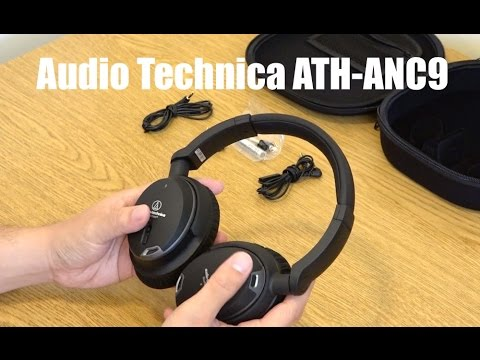 Audio Technica ATH-ANC9 QuietPoint Noise-Cancelling Headphones Unboxing