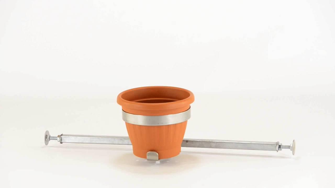 blumentopfhalter selber bauen, vario fix blumentopfhalter solo vfso i für flb 6589cm - youtube, Design ideen