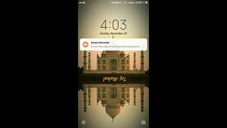 Mobile lock screen music control