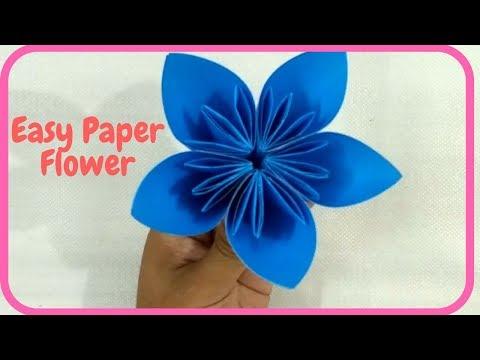 How to make a Kusudama Paper Flower   Easy DIY Kusudama for Beginners Step By Step   Paper Craft-DIY