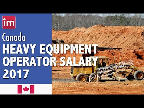 Heavy Equipment Operator Salary (Except Crane) - Jobs in Canada