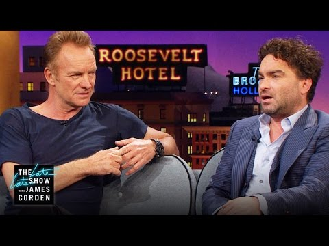 Johnny Galecki & Sting Trade Serious Ghost Stories