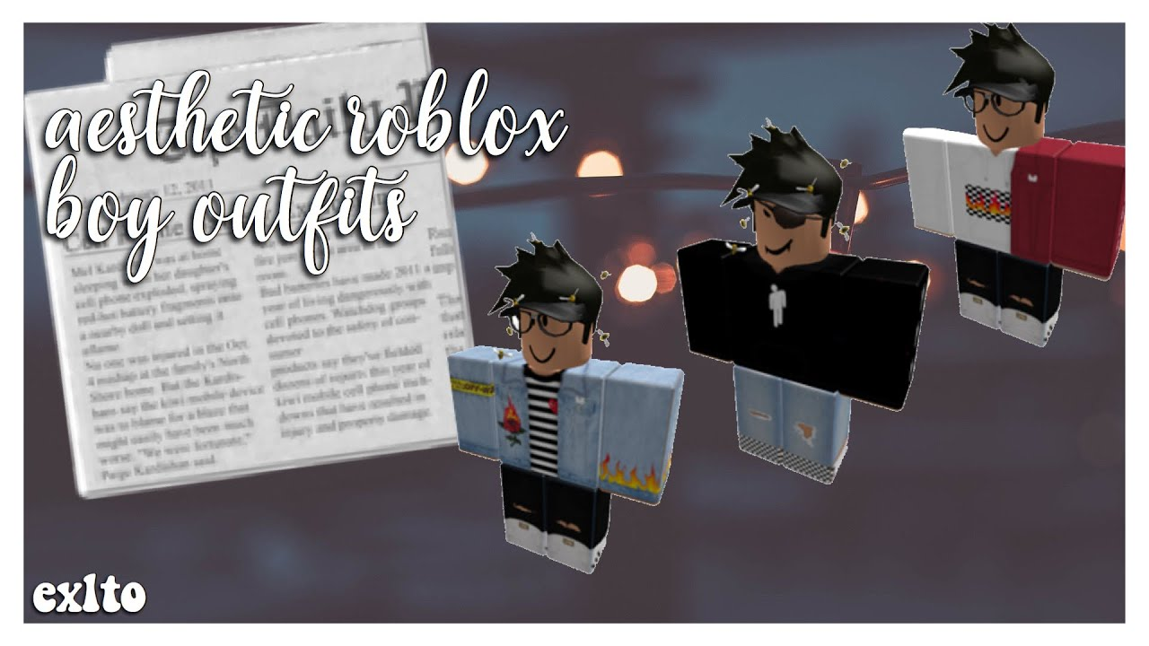 Aesthetic Roblox Boy Outfits Exlto Youtube