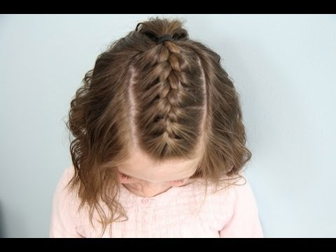 Single French Braid Back Short Hair Cute Girls Hairstyles