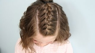 Single French {Braid} Back | Short Hair | Cute Girls Hairstyles
