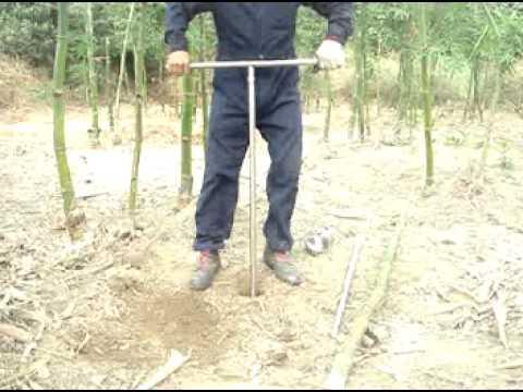 種植植物 挖土 五金 工具 挖洞 圍欄 鑽孔 電信工程(節能減碳攜帶方便) - YouTube
