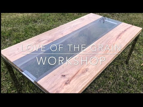 DIY Glass Insert Live Edge River Table Tutorial