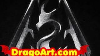 How to Draw Skyrim, Skyrim Dragon, Step by Step