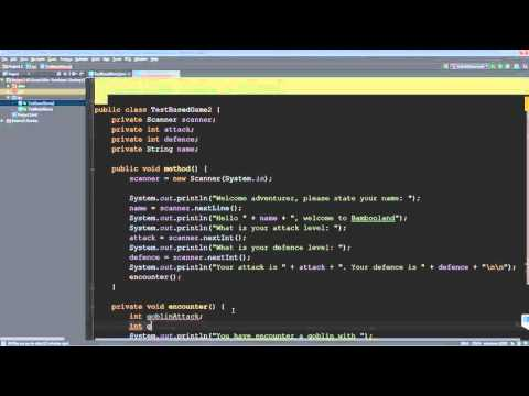 java how to make a text based game
