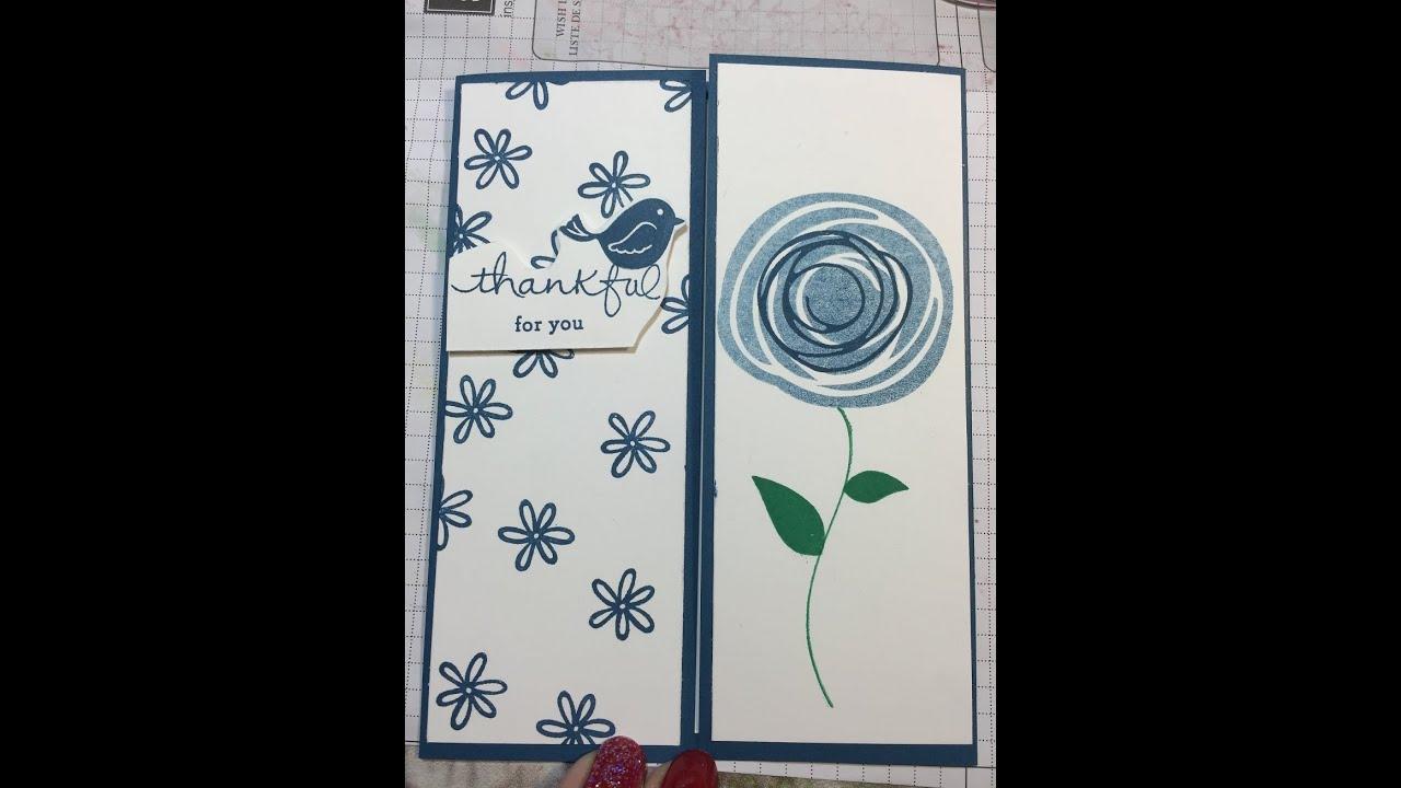Stampin Up Swirly Bird Card With Dapper Denim YouTube