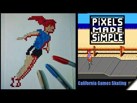Pixels Made simple-California Games Skating