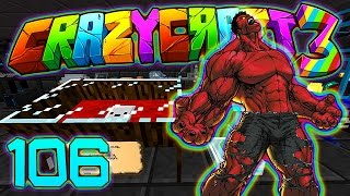 Minecraft Crazy Craft 3.0: RED HULK ARMOR & A GIFT FOR PETE! #106 (Modded Roleplay)