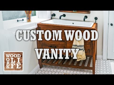 Custom Wood Vanity for a Trough Sink | Woodworking Builds