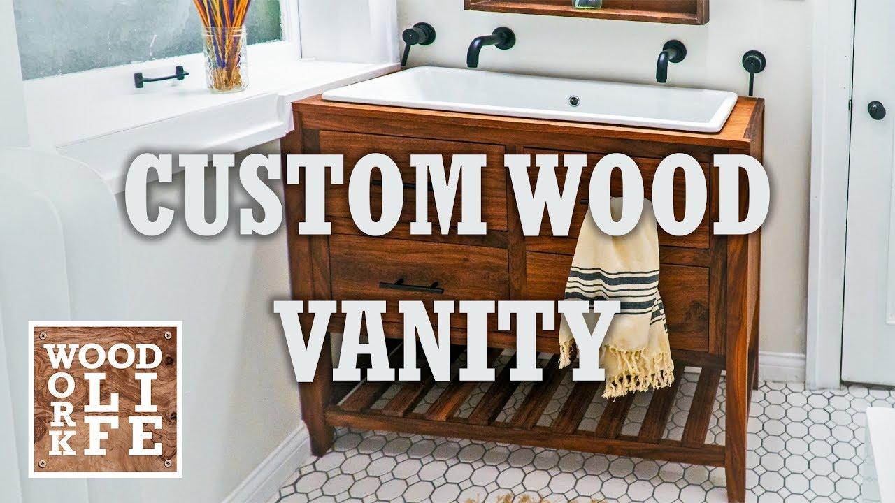 Build A Custom Walnut Bathroom Vanity | Builds