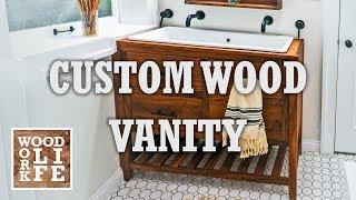 Building a DIY Custom Walnut Bathroom Vanity w/ a Trough Sink | Woodworking Builds