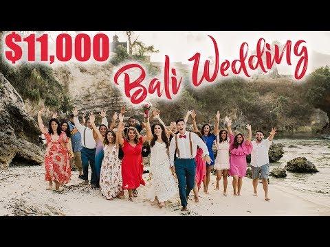 $11000 DESTINATION WEDDING IN BALI - Cost Breakdown