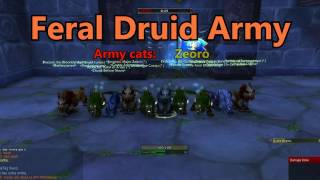 World of Warcraft - Olfis's 10 man Feral BG (9 Ferals, 1 Resto) - 60fps
