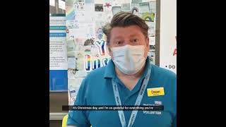 Dean Russell MP Thanks Volunteers at Watford General Hospital on Christmas Day