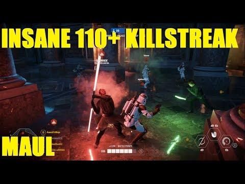 Star Wars Battlefront 2 - INSANE 110+ Darth Maul Killstreak! The clones didn't stand a chance! thumbnail