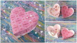 как из бумаги сделать коробочку форме сердечка с видео