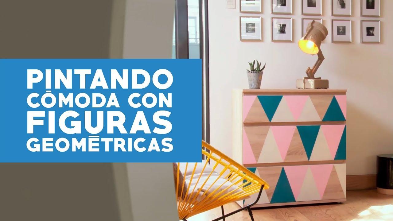 C mo pintar una c moda con figuras geom tricas youtube for Idea de muebles quedarse