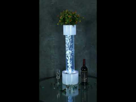 Tabletop LED Bubble Tube Column Fountain