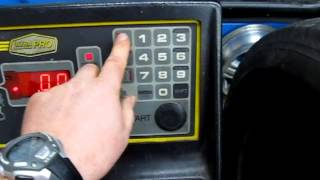 how to use the wheel balancer