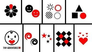 Baby Sensory - Black White & Red Animation - Shapes & Patterns (Visual Stimulation)