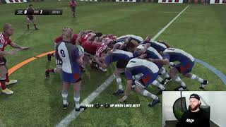 Rugby Player Plays RUGBY CHALLENGE 3 ONLINE For The First Time!