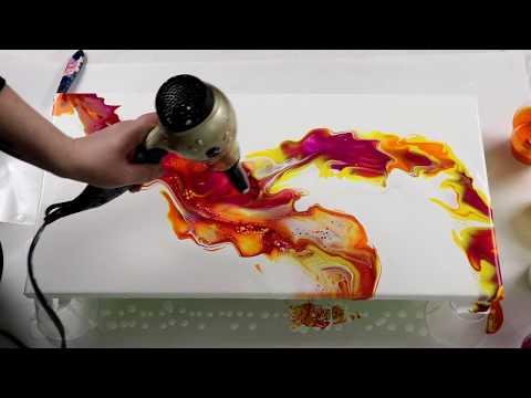 (357) Gorgeous Dutch Pour, Acrylic Pouring Technique
