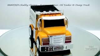 88007 8 9 Chubby Champs Cement Mixer Oil Tanker Dump Truck Toys Wholesale