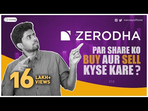 How to buy and sell shares on Zerodha platform(Demo)